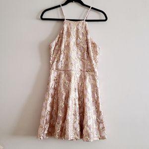 Lulus Tan Sequins Dress Size M